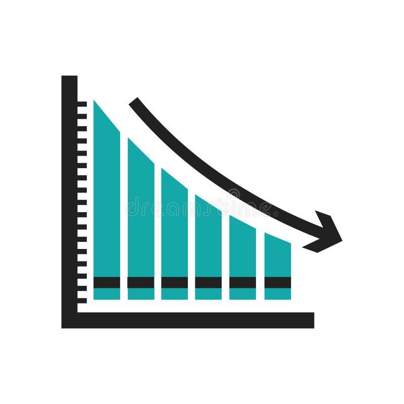 Het stijgen verspert grafisch pictogram vectordieteken en symbool op witte achtergrond wordt geïsoleerd, die concept van het bars stock illustratie
