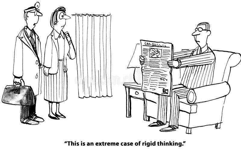 Het stijve Denken stock illustratie
