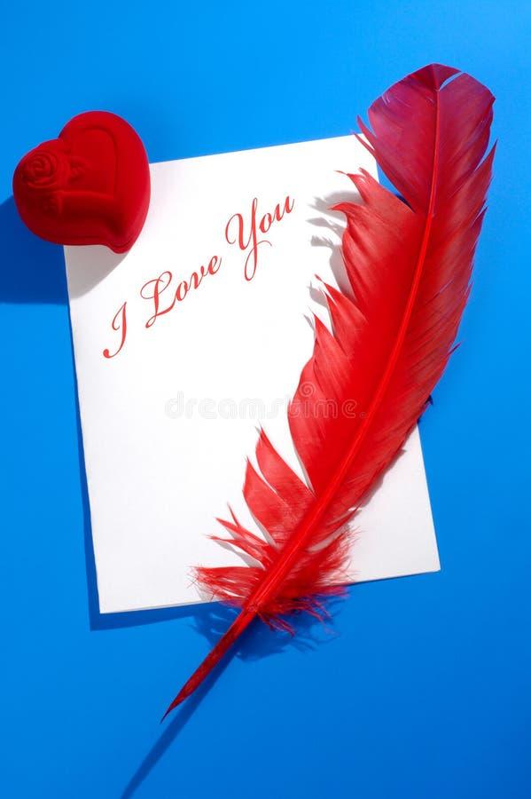 Het Stilleven van de Brief van de liefde royalty-vrije stock afbeeldingen