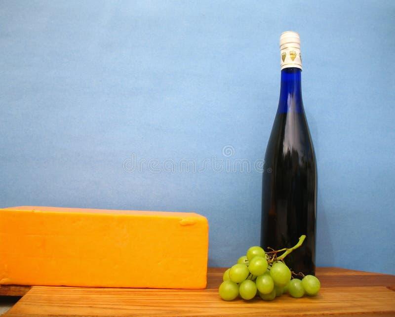 Het stilleven van de wijn en van de kaas royalty-vrije stock foto's