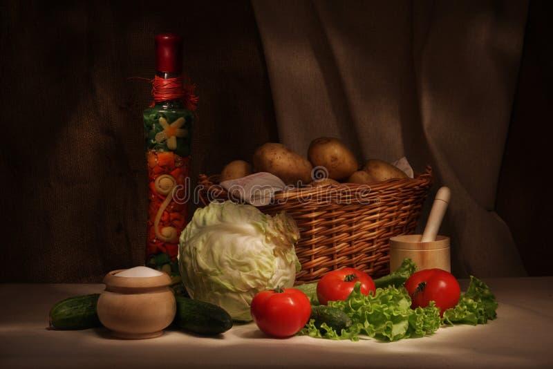 Het stilleven van groenten stock foto