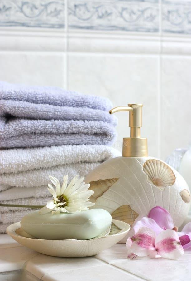 Het stilleven van het bad stock foto