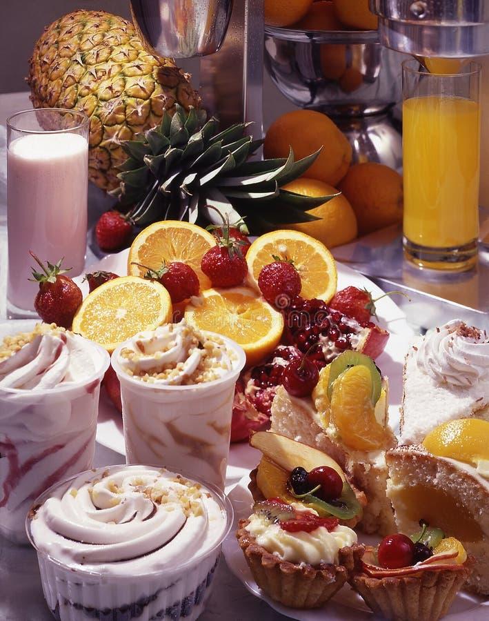 Het stilleven van het dessert stock foto's