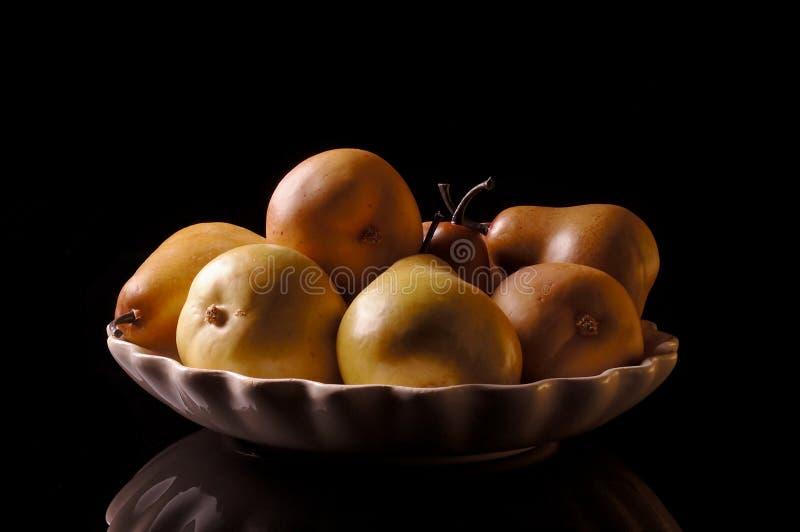 Het Stilleven van peren stock afbeelding