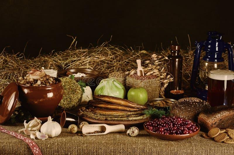 Het stilleven van het voedsel stock fotografie