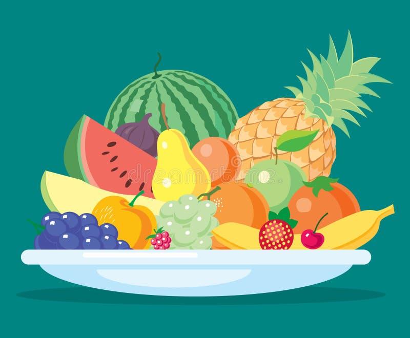 Het stilleven van vruchten stock foto