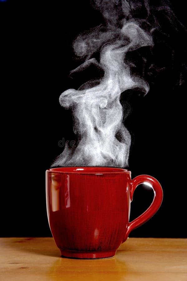 Het stomen van Hete Koffie stock afbeelding