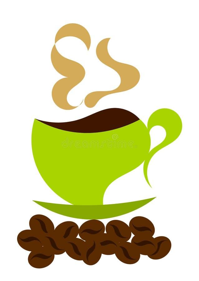 Het stomen van koffieillustratie vector illustratie