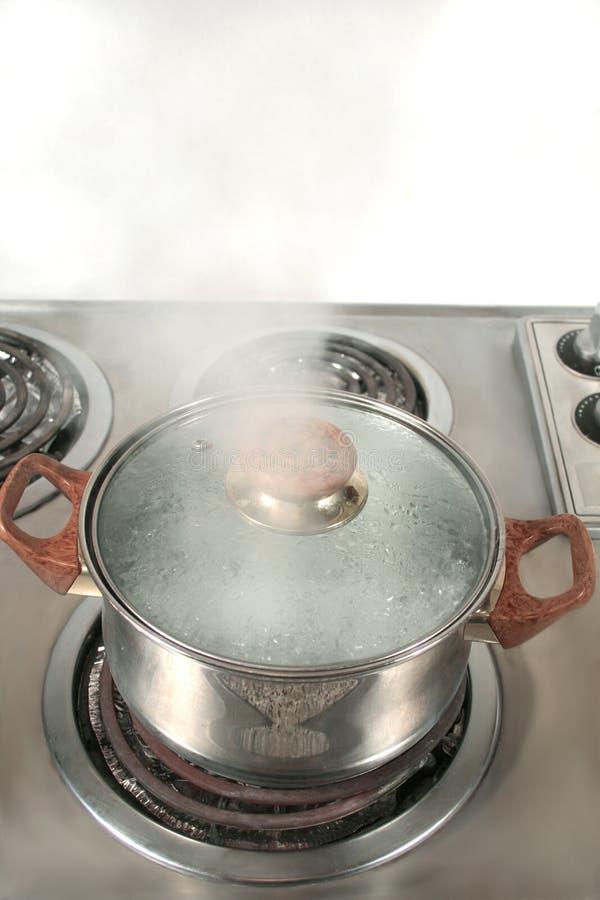 Het stomen van pot stock afbeelding