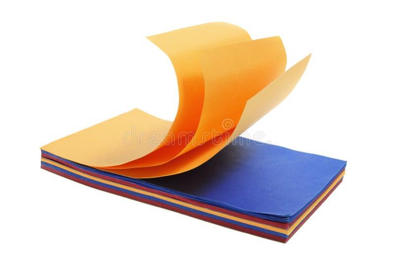 Het Stootkussen van het Document van de kleur stock fotografie