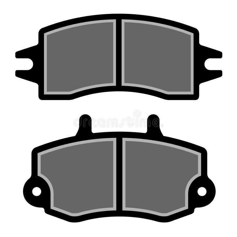 Het stootkussen zwarte silhouetten van de rem royalty-vrije illustratie