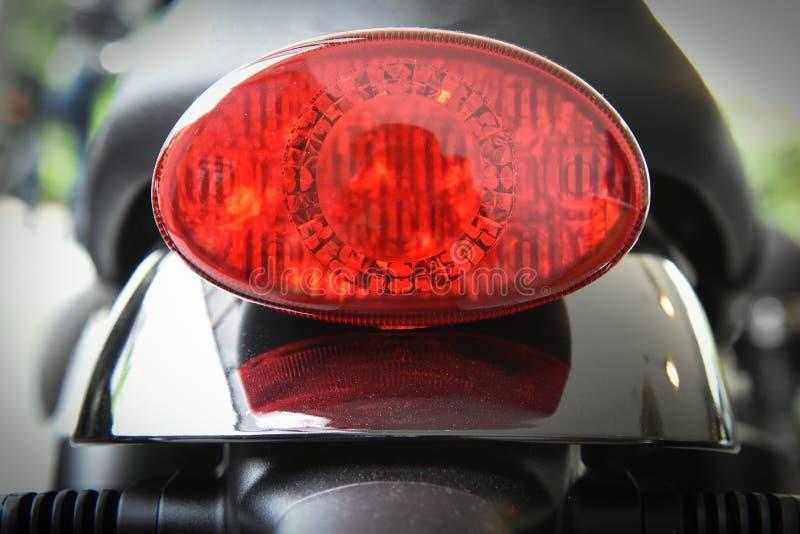 Het stoplicht ovale vorm van de motorfietsstaart royalty-vrije stock afbeeldingen