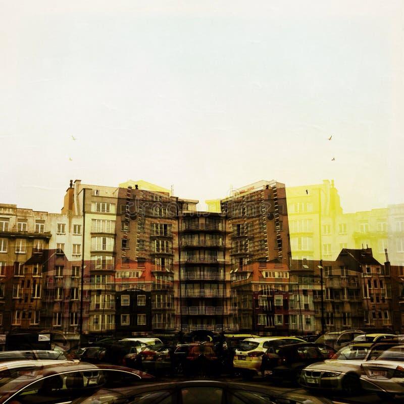 Het straatleven en stedelijke paysage stock fotografie