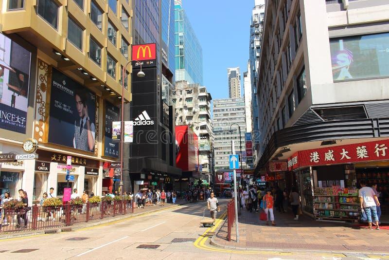 Het straatleven in Hong Kong royalty-vrije stock foto's