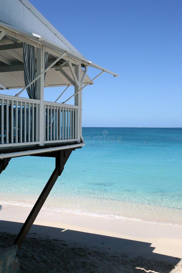 Het strandã Groot Geval van bungalowsur La, Heilige Martin royalty-vrije stock afbeelding