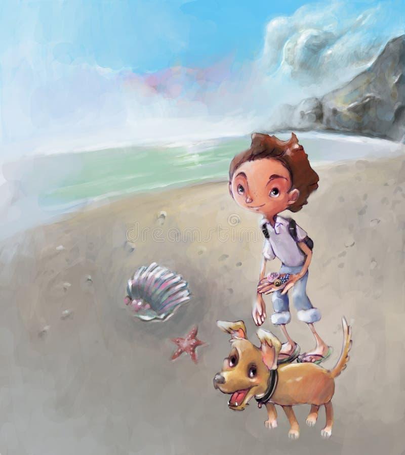 Het strand royalty-vrije illustratie