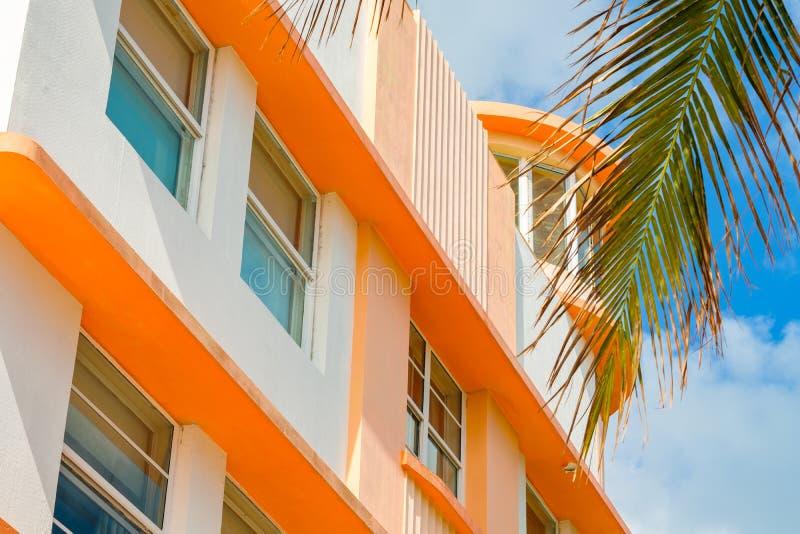 Het Strand Art Deco van Miami royalty-vrije stock foto