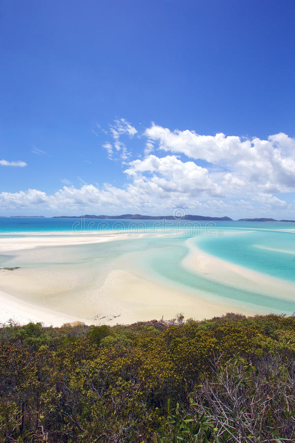 Het Strand Australië van het Pinkstereneiland stock fotografie