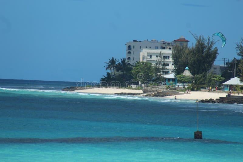 Het strand Barbados van Dover royalty-vrije stock afbeelding