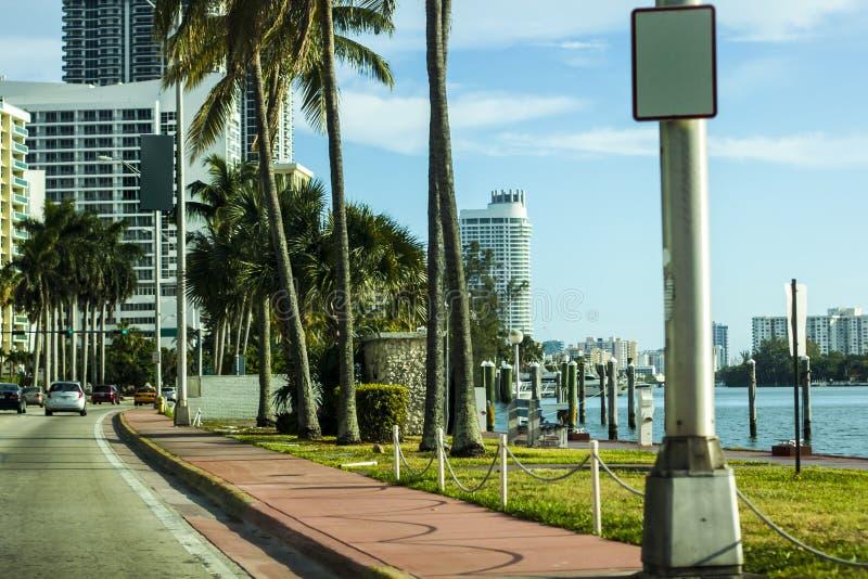 Het Strand Boulvard van Miami royalty-vrije stock foto