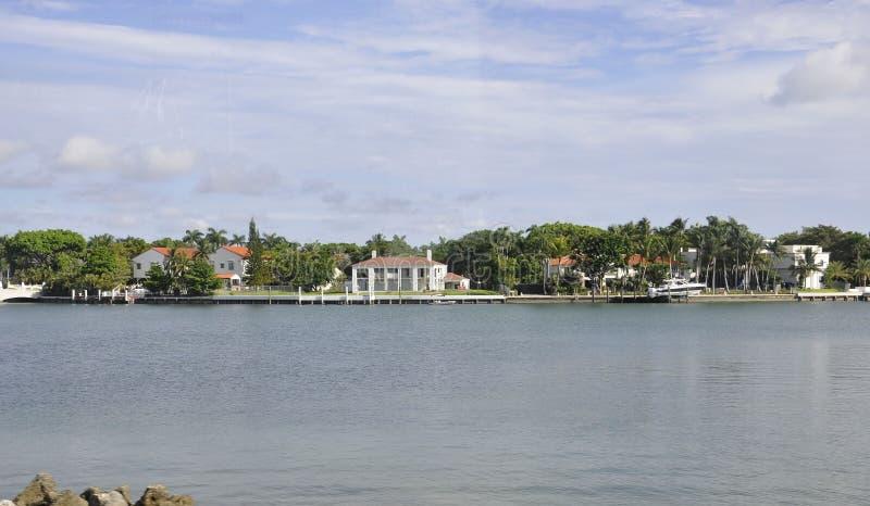 Het Strand FL, 09 van Miami Augustus: Venetiaans Eiland van het Strand van Miami in Florida stock foto's