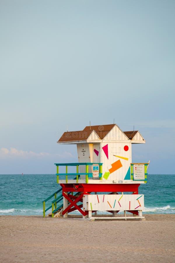 Het Strand Florida, het huis van Miami van de Art decobadmeester stock afbeeldingen