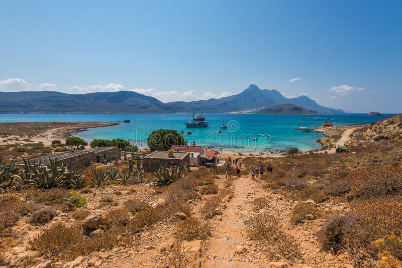 Het strand in Gramvousa-eiland royalty-vrije stock afbeelding