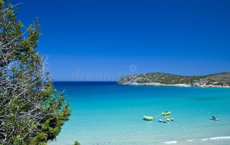 Het strand Kreta van Voulisma stock foto