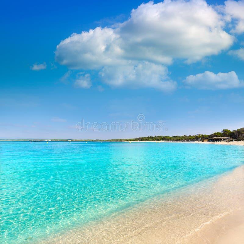 Het strand S Trenc Estany Estanque van Mallorca Marques stock foto's