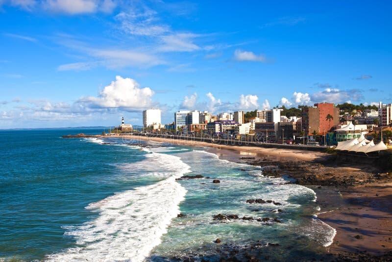Het strand Salvador van Barra van Bahia stock afbeelding