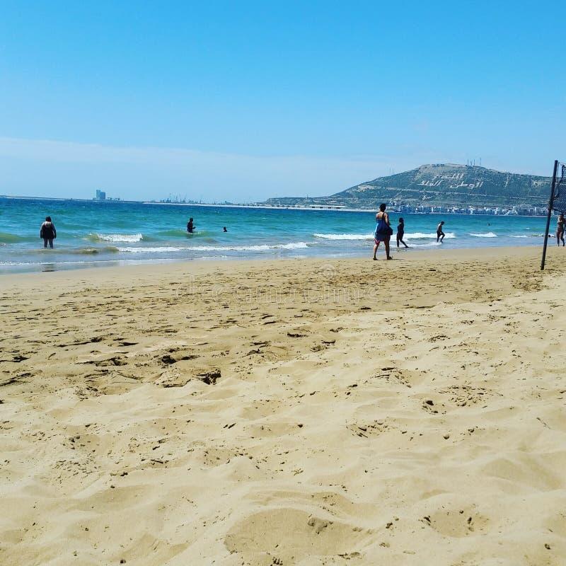 Het strand van Agadir stock foto's