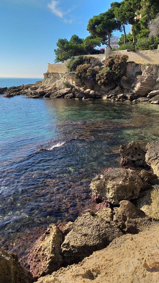 Het strand van Alicante stock foto