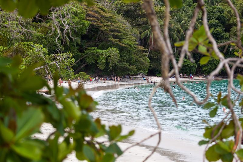 Het strand van Antonio van Manuel, Costa Rica stock fotografie