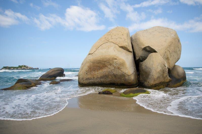 Het Strand van Arrecifes, Tayrona nationaal park, Colombia royalty-vrije stock afbeeldingen