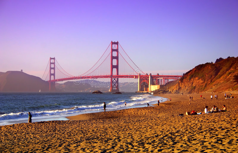 Het Strand van Baker, San Francisco stock foto