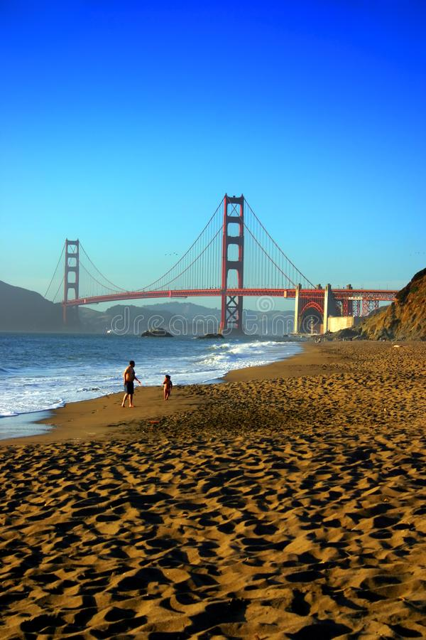 Baker Beach, San Francisco royalty-vrije stock foto's
