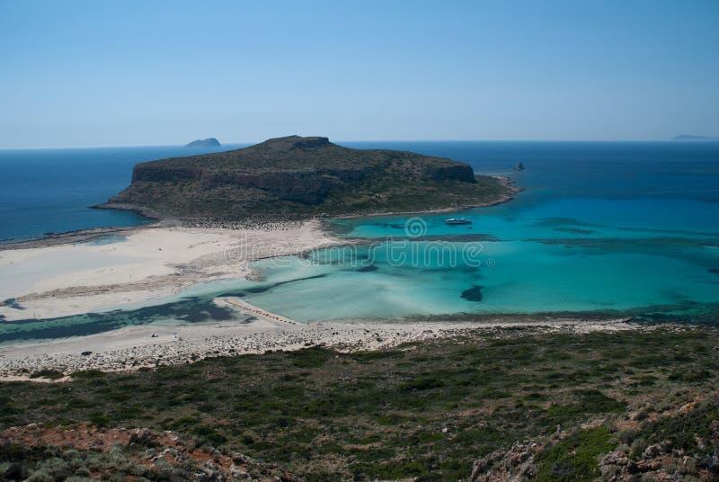 Het Strand van Balos in Kreta stock afbeelding