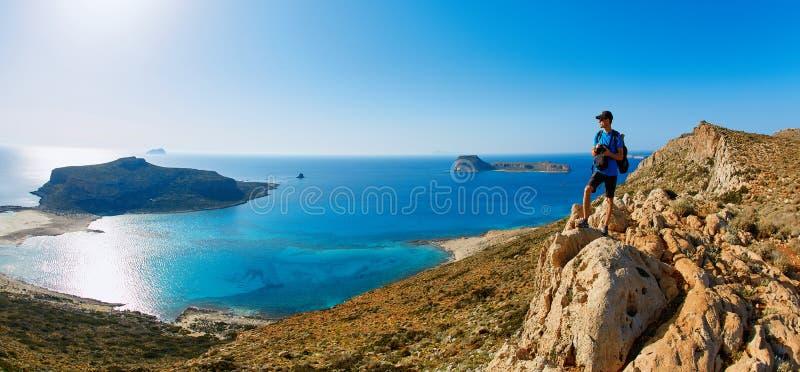 Het strand van Balos, Kreta royalty-vrije stock fotografie