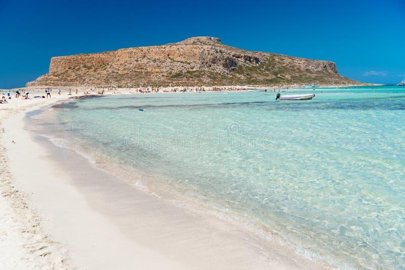 Het strand van Balos, Kreta royalty-vrije stock foto's