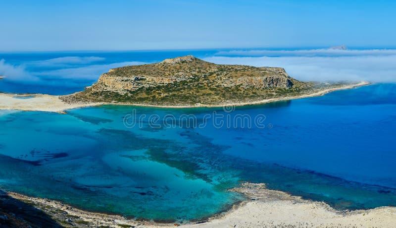 Het strand van Balos, Kreta stock foto