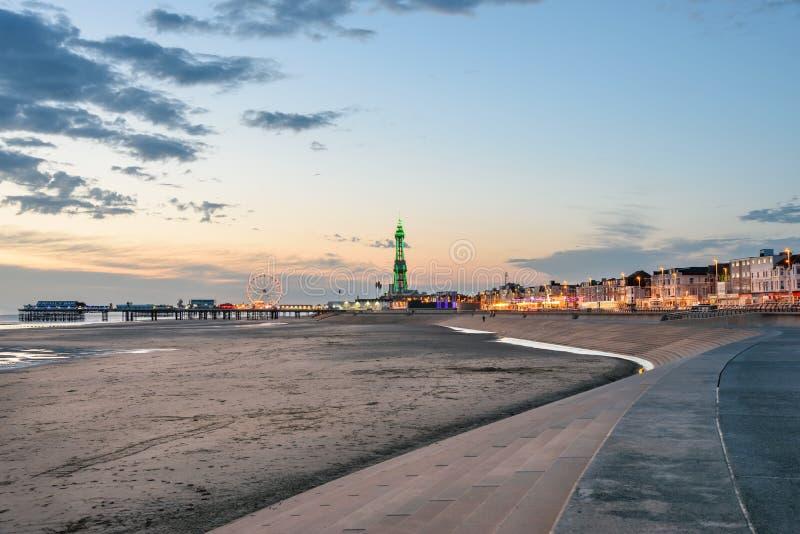 Het strand van Blackpool stock foto's