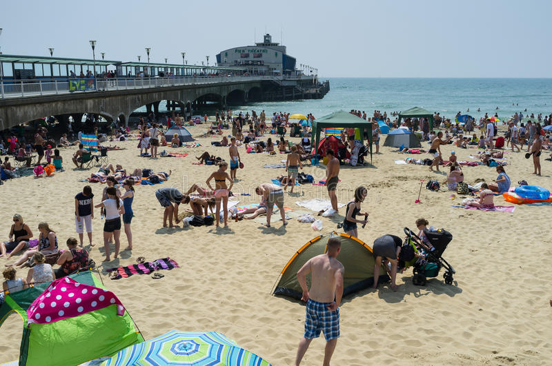 Het Strand van Bournemouth stock foto
