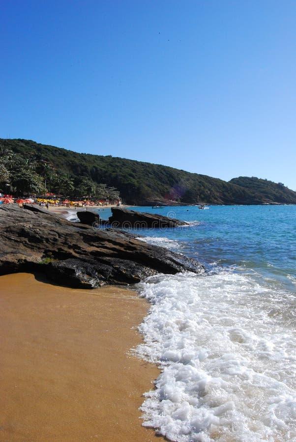 Het Strand van Brazilië van Buzios stock afbeeldingen