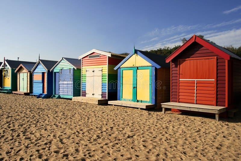 Het strand van Brighton, Melbourne royalty-vrije stock afbeeldingen