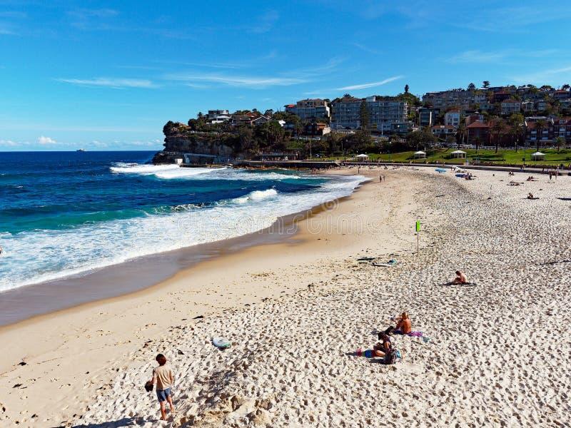 Het Strand van Bronte, Sydney, Australië stock foto