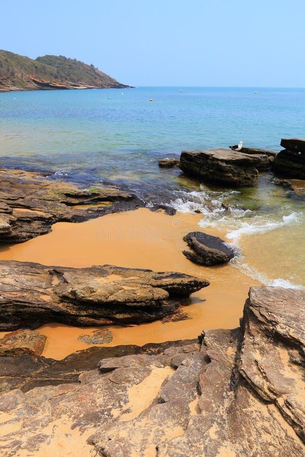 Het strand van Buzios stock afbeeldingen