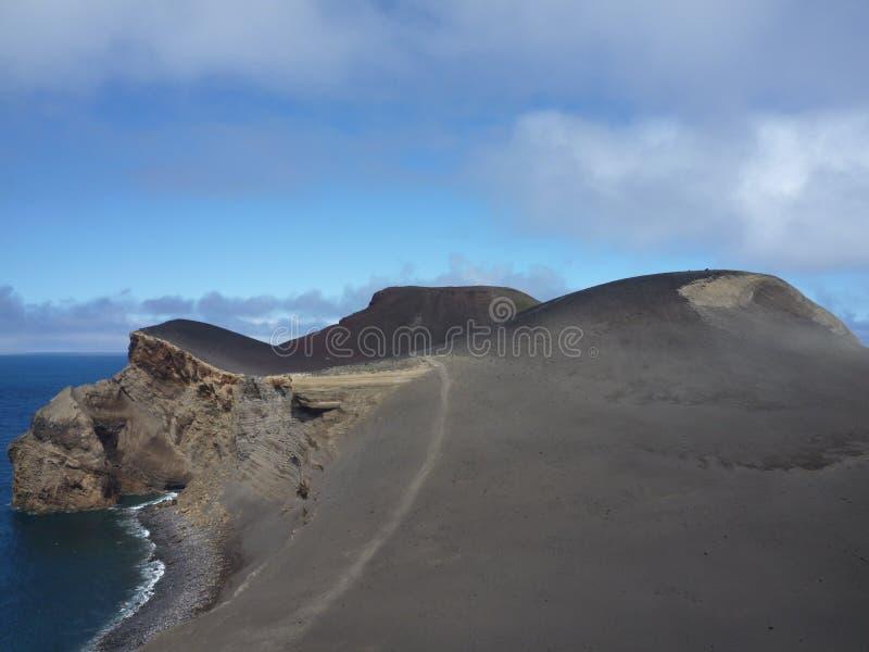 Het strand van Capelinhos in de Azoren royalty-vrije stock afbeeldingen