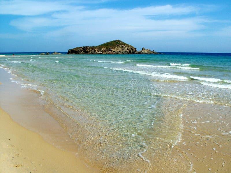 Het Strand van Chia stock afbeeldingen