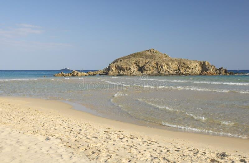 Het strand van Chia royalty-vrije stock foto's