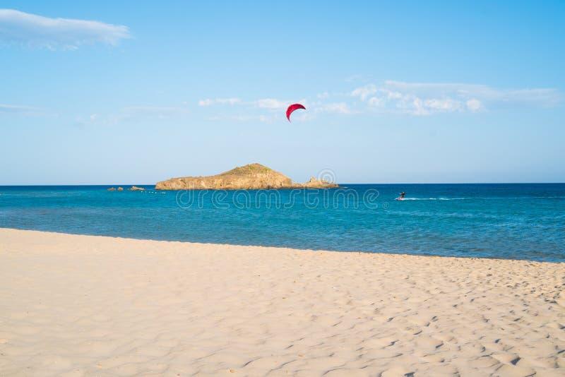 Het strand van Chia stock foto